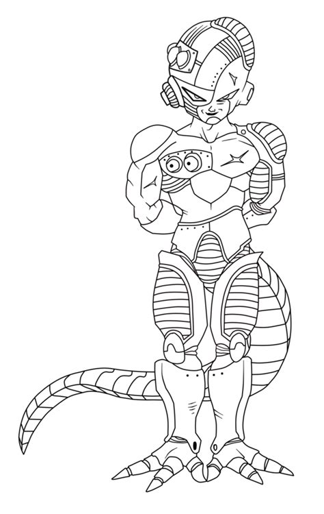 dragon ball z frieza coloring pages mecha frieza free coloring pages