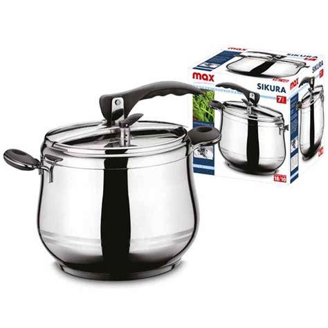 pentola per cucina a vapore pentola a pressione 7 litri chiusura emetica in acciaio