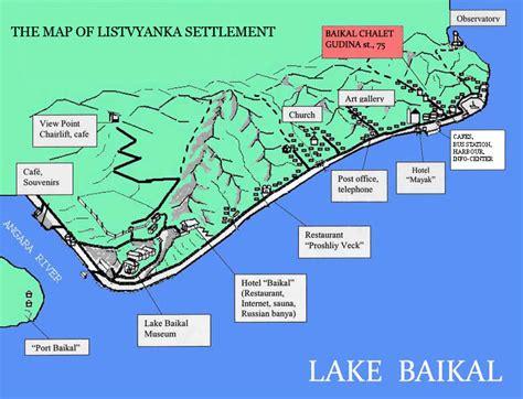 world map lake baikal lake baikal and listvyanka settlement