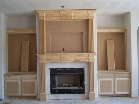 tyual   build  fireplace mantel shelf  brick