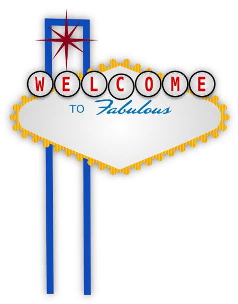 welcome to las vegas sign template blank vegas for franky clip at clker vector clip