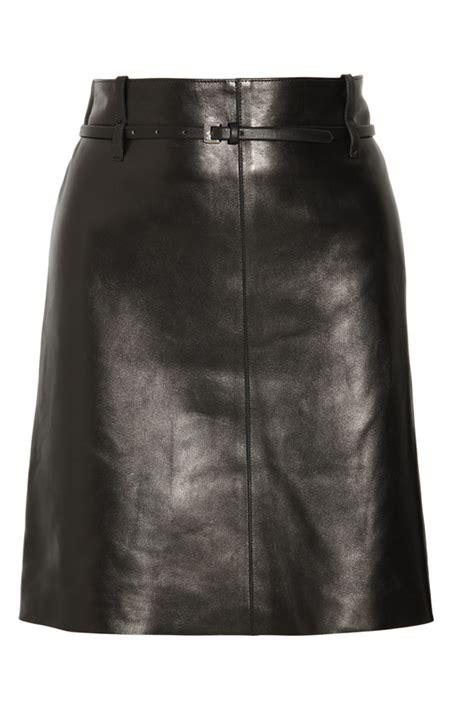 genuine leather skirt dress