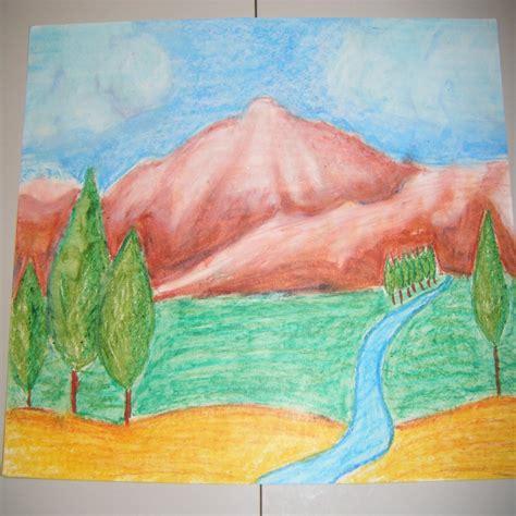 imagenes faciles para dibujar de un paisaje imagenes de paisajes faciles para dibujar con color