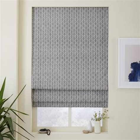 elm l shades mid century bracket geo printed shade blackout