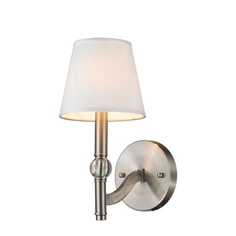 Pewter Sconces waverly pewter one light sconce golden lighting 1 light armed glass wall sconces wall ligh