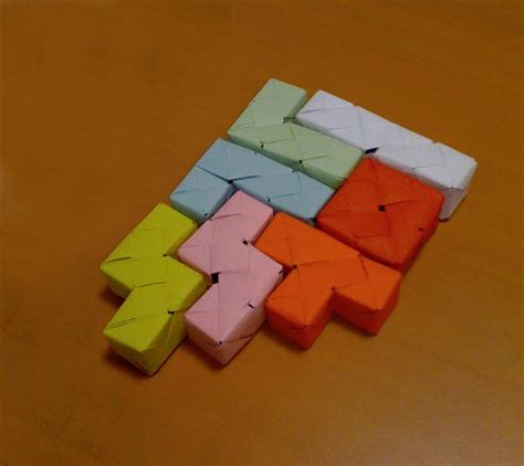 Working Origami - origami tetris at work by painou on deviantart
