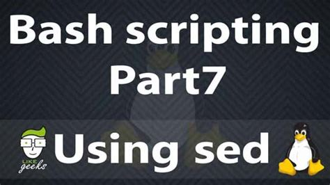 sed linux 31 exles for sed linux command in text manipulation