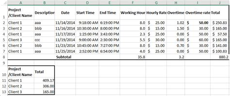 Billable Hours Template How To Create Billable Hours Template In Excel