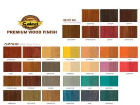wood stain color cabot stains color chart