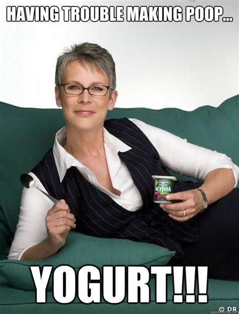 jamie lee curtis activia meme jamie lees yogurt memes quickmeme