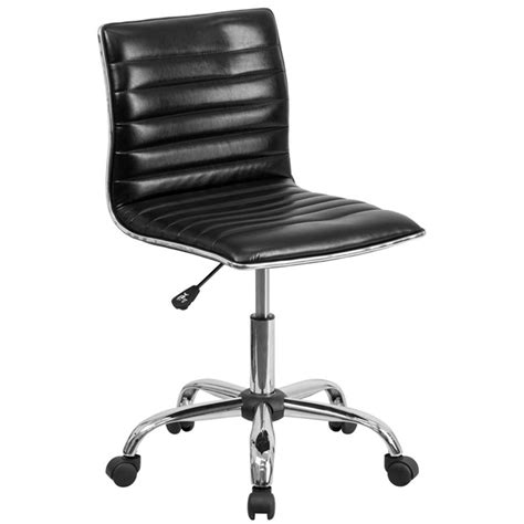flash furniture ds  bk gg mid  designer ribbed black leather office chair task chair