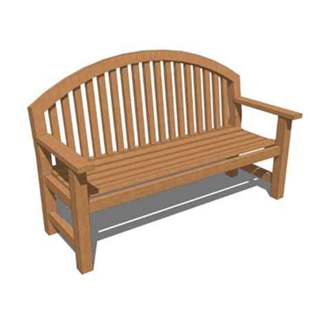 smith and hawken bench smith hawkens giverny bench 3d model formfonts 3d models