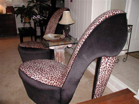 cheetah high heel chair sonassa design