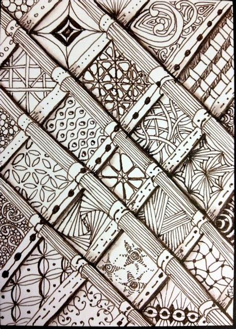 zentangle pattern squares tangled squares by lenawink challenge 110 first use of