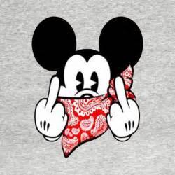 gangsta mickey mickey mouse shirt teepublic