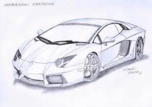 Drawing Of A Lamborghini Lamborghini Aventador By Rafael Rocha7 On Deviantart