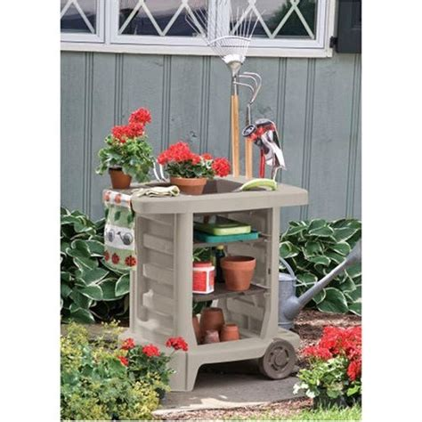 portable potting bench outdoor portable potting bench gardening station utility bin fastfurnishings com