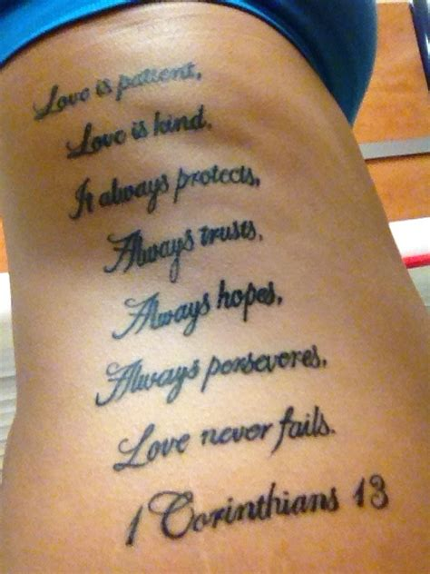 small verse tattoos 1 corinthians 13 script baby tattoos