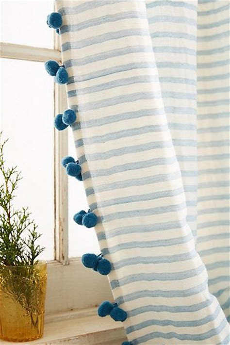 curtain trimmings pom poms the beauty bed blankets and curtains for kids on pinterest