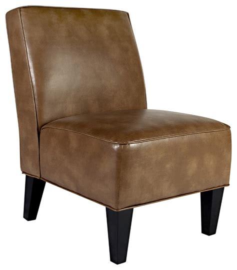 armless armchairs portfolio madigan chocolate brown renu leather armless