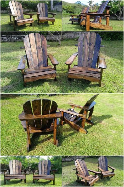 Adirondack Patio Furniture Sets Pallet Patio Adirondack Furniture Set Pallet Wood Projects