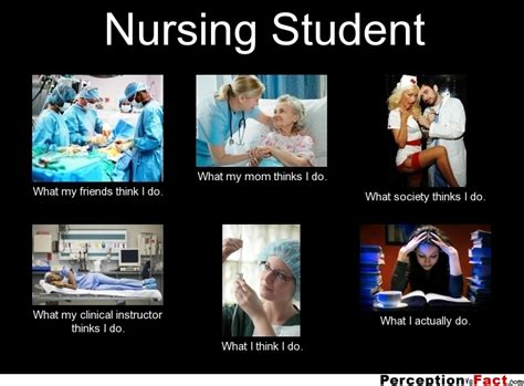 nursing student what people think i do what i really