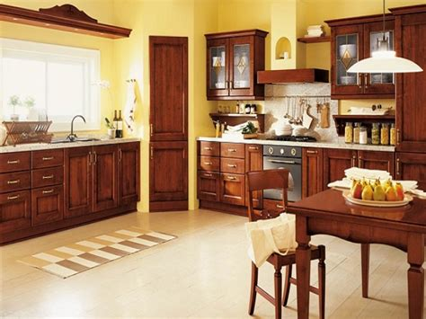 Decorating Ideas For A Brown Kitchen Beautiful Yellow And Brown Kitchen Interior Designs Home