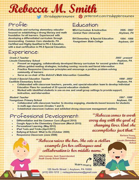 creative cv templates for teachers 46 best teacher resumes images on pinterest teacher