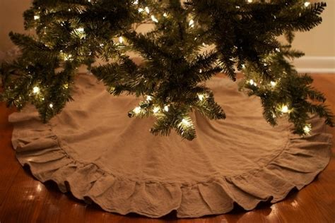 linen christmas tree skirt burlap pinterest