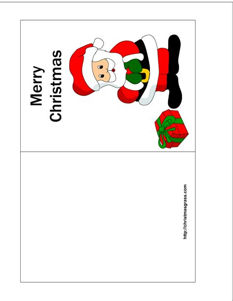 Merry Card Templates Free by Free Printable Card With Charming Santa