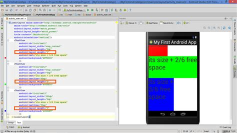 using layout weight in android lesson how to build android app with linearlayout plus