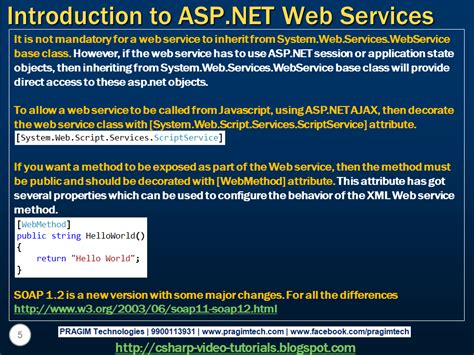 tutorial on web services in asp net sql server net and c video tutorial part 1