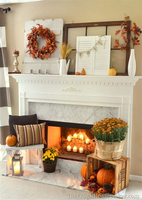 fall mantel decor 31 days of fall inspiration fall mantel