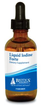Iodine Detox Fatigue by Liquid Iodine Forte 2 Oz Bewell Associates