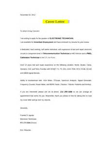 Electronic Cover Letter by Electronic Technician Cover Letter Sles And Templates