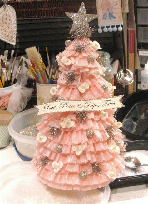 crepe paper tree christmas pinterest christmas trees