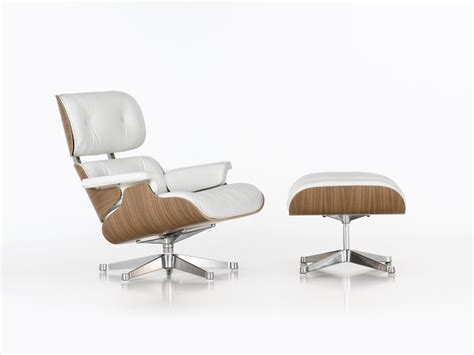 Vitra Eames Lounge Chair And Ottoman Buy The Vitra Eames Lounge Chair Ottoman White At Nest Co Uk