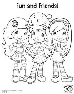 Coloring Pages Strawberry Shortcake And Friends 12 strawberry shortcake birthday printable coloring
