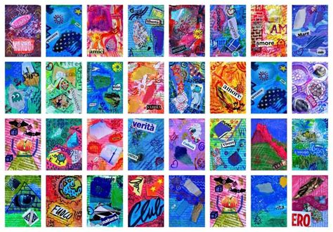 artist trading card template artist trading cards global learning arts for