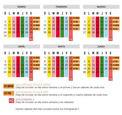 calendario de hoy no circula doble programa hoy no circula df 2017 la economia