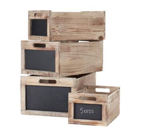 produce crates set of 4 decorative boxes home