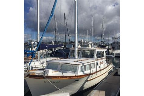 formula boats in rough water 1981 36 roughwater 36 motor sailer trawler sold in dana