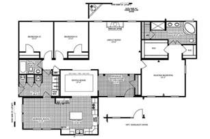 modular home floor plans manufactured home floor plan 2005 clayton colony bay 33cob42643mm05