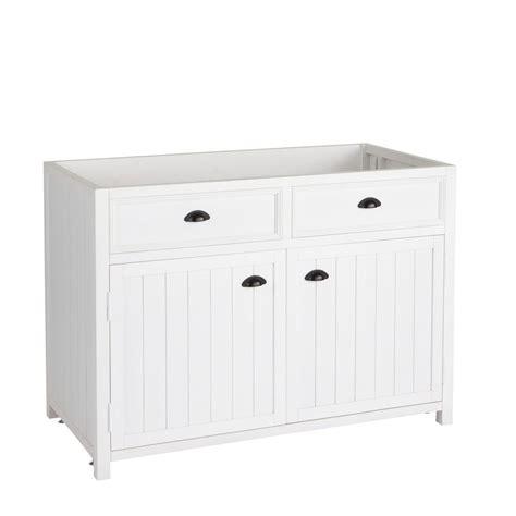 meuble bas 120 cm cuisine meuble bas de cuisine en pin blanc l 120 cm newport
