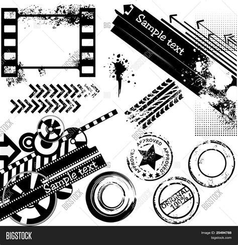 rubber st designer grunge design elements banners vector photo bigstock