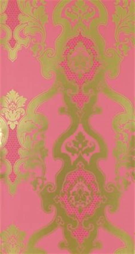 pink  gold damask wallpaper gallery