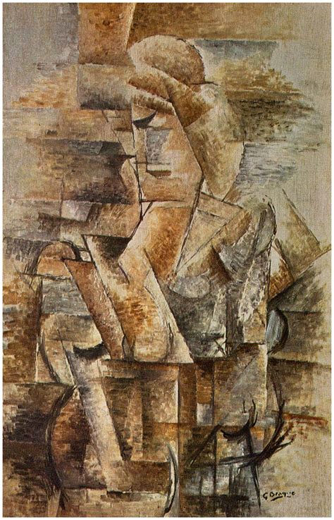 cubist george georges braque portrait of a 1911 on canvas