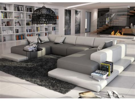 sofas xxl 7 plazas ikea canap 233 panoramique 7 places en simili scosy bicolore
