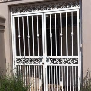 Security Front Door Gates Security Gates And Grills On House Front Doors Johannesburg