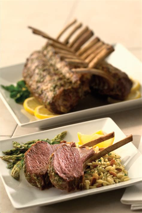 rack of lamb on grill grilled rack of lamb with fresh lemon and herbs superior